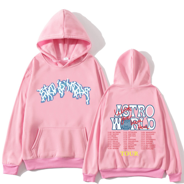 TRAVIS SCOTT ASTROWORLD TOUR THEMED HOODIE (7 VARIAN)