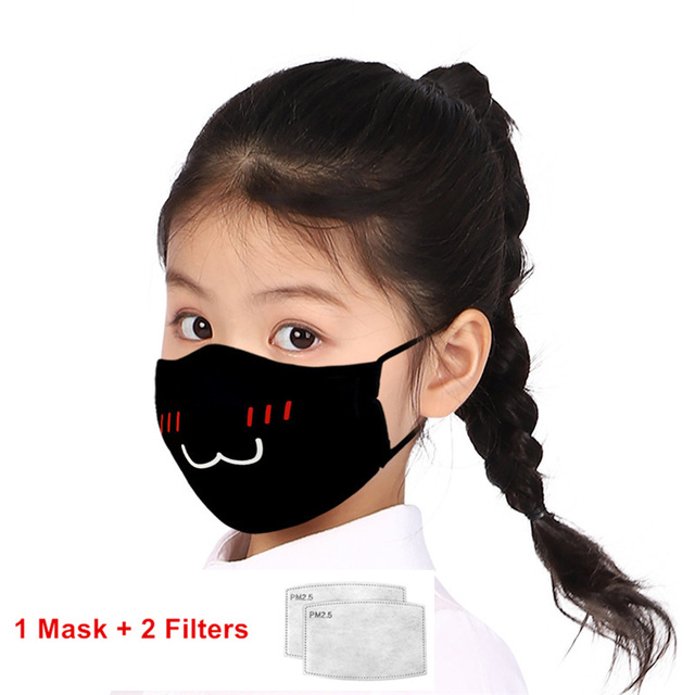 Print Mouth Mask Washable Cotton PM2.5 Filter kids Anti Dust Face Mask Reusable Mouth-muffle Bacteria Proof Flu Children Mask 3