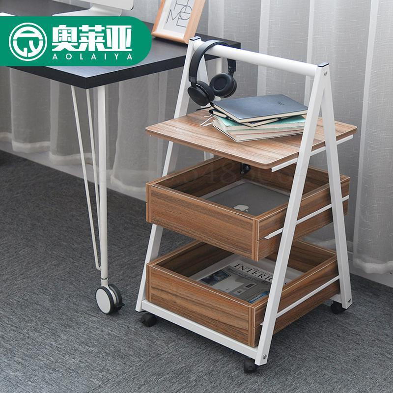 Простой мобильный с шкафчиком боковой Угловой Столик Маленький журнальный столик для дивана боковой столик ленивый прикроватный столик