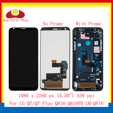 ORIGINAL 5.5'' For LG Q7 Plus Q610 Q610EA LCD Display Touch Screen Digitizer Assembly With Frame For LG Q7 Q610ZM LCD Complete original lcd for lg k8 k350n k350e k350ds lcd display complete touch screen digitizer assembly black white free shipping tools