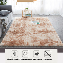 Carpet Tie Dyeing Plush Soft Carpets For Living Room Bedroom Anti-slip Floor Mats Bedroom Water Absorption Carpet Rugs learning carpets us map carpet lc 201