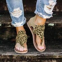 2020 Top seller – Women sandals Leopard Pattern Large Size Rome Sandals Women's Anti-slip Hot Selling Wedges Summer shoes