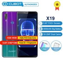 """Cubot X19 Android 8,1 Helio P23 Восьмиядерный мобильный телефон 4000 мАч 4 Гб ОЗУ 64 Гб ПЗУ 5,9"""" FHD+ смартфон 16,0 Мп 4G LTE сотовые телефоны"""