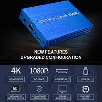 High Quality Video Capture 4K HDMI Capture Card Box USB 3.0 Drive Free Game Broadcast Microphone HD 1080p Video Capture #W1
