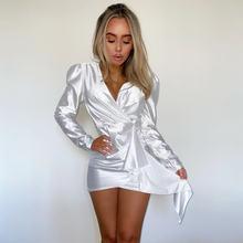 2020 женское сексуальное мини платье модное Клубное со складками