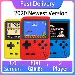 Image 1 - 2020 новая игровая консоль в стиле ретро со встроенными 800 играми и поддержкой геймпада, портативная 8 битная портативная мини консоль для видеоигр, подарок для детей