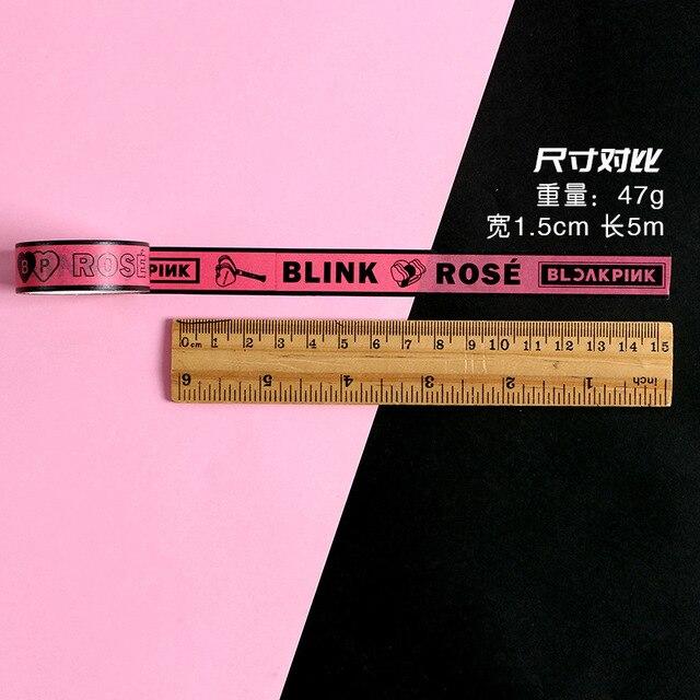 [MYKPOP]BLACKPINK Adhesive Tape Set 4 Rolls Jisoo Jennie Rose Lisa Paper Masking DIY Diary Book Scrapbook Sticker SA20070601 2