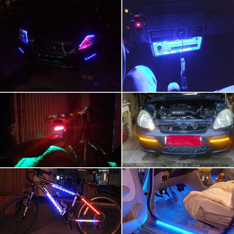 1X30 Cm 15 SMD Xe Dây Đèn LED Ánh Sáng Kiểu Dáng Xe Nội Thất Trang Trí Bầu Không Khí Đèn Bên Ngoài Sửa Đổi Ánh Sáng Môi Trường Xung Quanh đèn Led DRL Chữ
