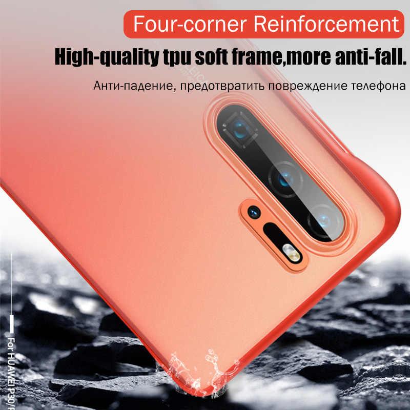 Sang Trọng Không Viền Ốp Lưng Điện Thoại Huawei P20 P30 Lite Chống Sốc Dành Cho Huawei Mate 20 Lite P20 P30 Pro Lưng ốp Lưng Có Dây