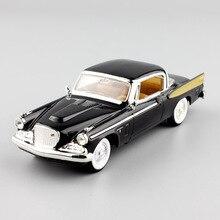 مقياس 1:43 للأطفال 1958 ستوديبيكر الذهبي هوك خمر هاردتوب كوبيه ديكاست المركبات نموذج معدني سيارات لعب قديمة هدية لجمع