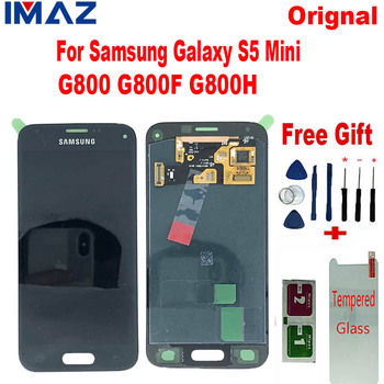 "IMAZ Orignal AMOLED 4.5"" LCD For Samsung Galaxy S5 Mini G800 G800F G800H/A/L LCD Display Touch Screen Digitizer Assembly Replace"