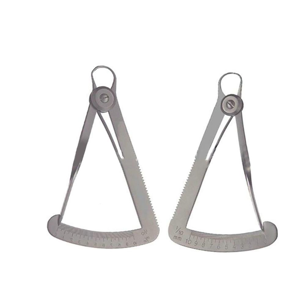Useful Crown Gauge Caliper Stainless Steel Surgical Dental Measuring Ruler Instruments Newest