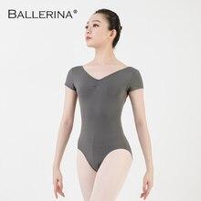 バレエレオタード女性ダンスウェア専門的な訓練yogaセクシーな体操クロスオープンバックレオタードバレリーナ 3551