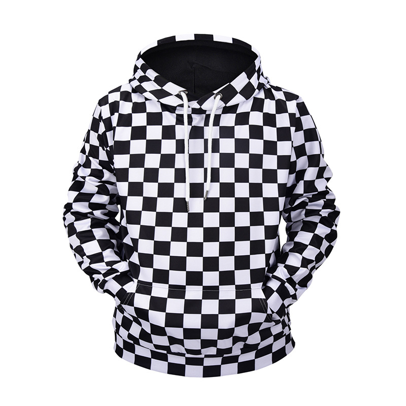 Puimentiua  Hot Selling Fahion New European American Autumn Winter 3D Digital Printing Hoodies Mens Size Sweatshirt