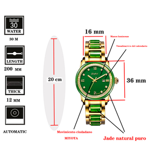Image 2 - 2020 חדש גבירותיי ירקן צמיד שעון מכאני באופן מלא אוטומטי שעונים עם לוח שנה תצוגת פונקצית תעודת הערכה