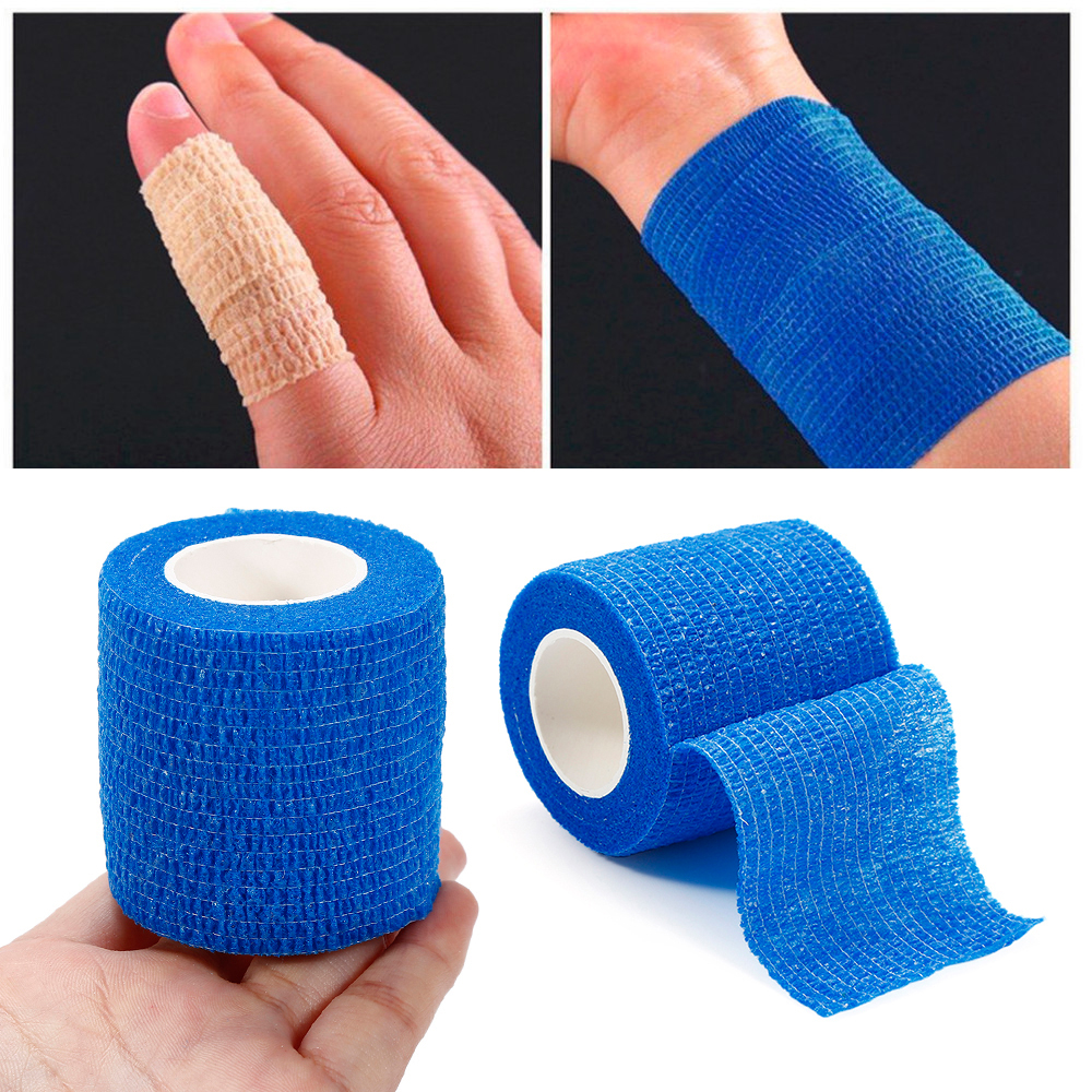 Mini Safety & Survival Self Adhesive Elastic Bandage Non-woven Fabric Outdoor Travel Medical Emergency Kit SOS 5M*2.5cm(China)