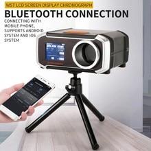 Display lcd combinando cronógrafo tiro velocidade tester velocimetria medidor de medição com telefone app & tripé 649a