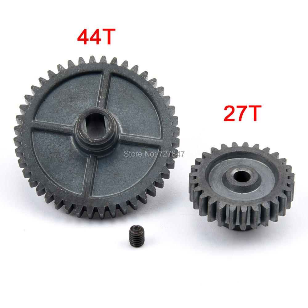 Upgrade Metal 44T Reduction Gear + 27T Motor Gear For Wltoys 144001 1/14 RC Car Parts