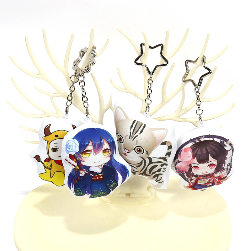 10cm/pcs Custom Pillow Charm Custom Printing Mini Cute Pillow Star Charm Keychain