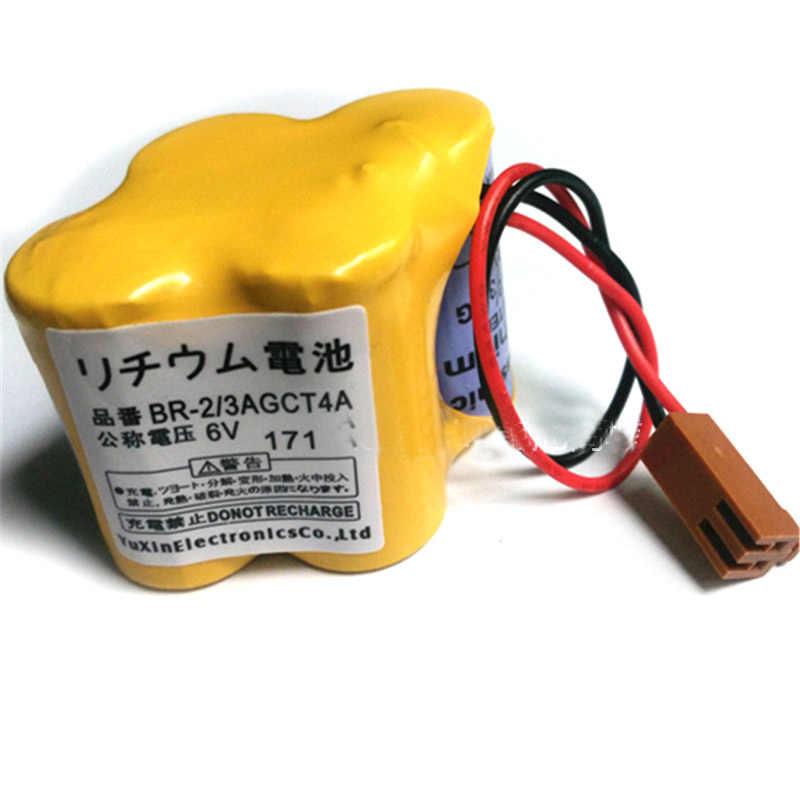 الأصلي BR-2/3AGCT4A 6 فولت 4400 مللي أمبير بطارية حزمة PLC بطاريات ليثيوم أيون الصناعية مع المكونات البني لباناسونيك Fanuc البطارية