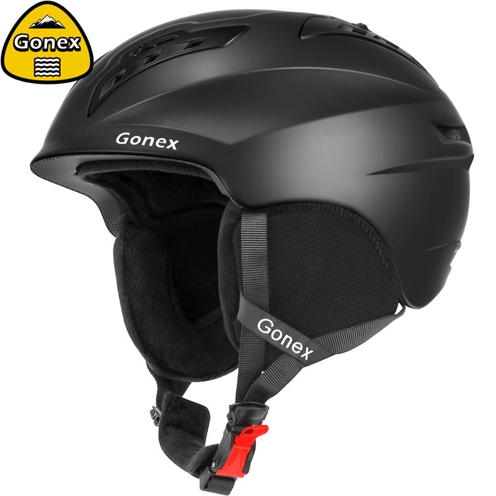 Gonex 2019 классический лыжный шлем с сертификатом безопасности цельно Отлитый снег сноуборд шлем для зимних видов спорта катание на лыжах для мужчин и женщин Горнолыжный шлем      АлиЭкспресс