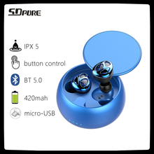 SDpure new slider bluetooth headset tws wireless 5.0 headphones,high quality,original earbuds,ipx5 waterproof earphone,business