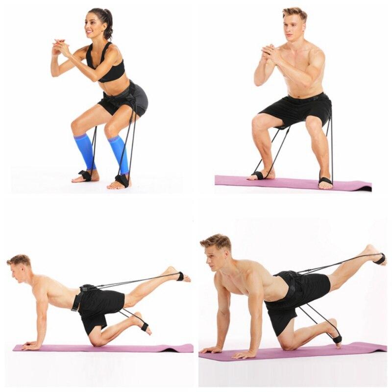 Men Women Booty Band Belt Fitness Resistance Belt Muscle Waist Belt Elastic Muscles Trainer Fitness Adjustable Workout Loop