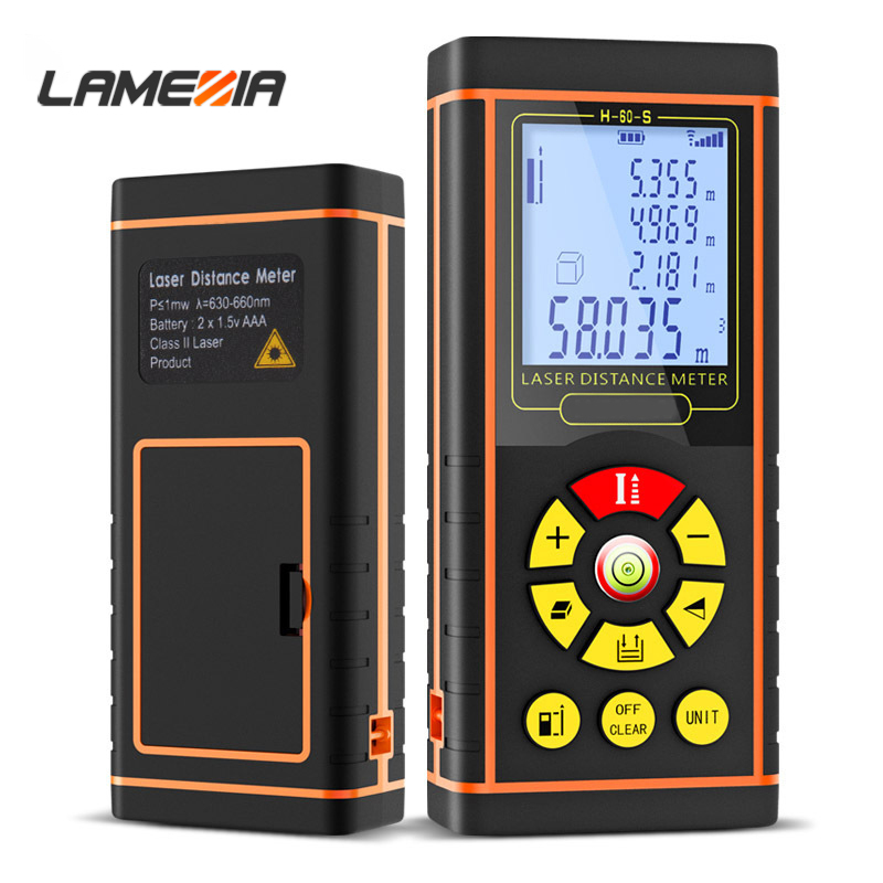 LAMEZIA 40/60/80/ 100m Electronic Digital Trena Laser Rangefinder Distance Meter Optical Range Finder Measurement Instruments