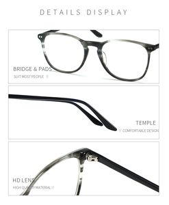 Image 5 - BLUEMOKY Acetate Prescription Glasses for Women Men Square Optical Myopia Spectacles Frames Anti Blue Light Ray Computer Eyewear