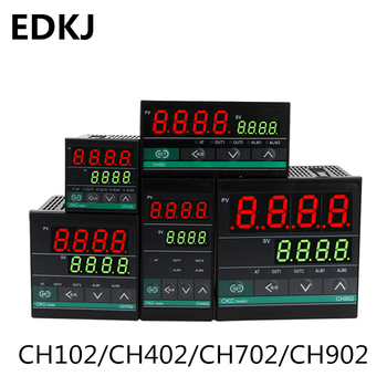 цена на 1 set Dual Output SSR Relay CH102 CH402 CH702 CH902 Two Relay Output PID Digital  LCD Intelligent Temperature Controller 48-240V