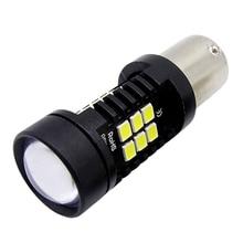 JIUWAN 1 Pcs Car Turn Signal Light 1157 BAY15D P21/5W R5W DRL 3030 21SMD  Rear Parking Bulbs Auto Brake Reverse Lamp