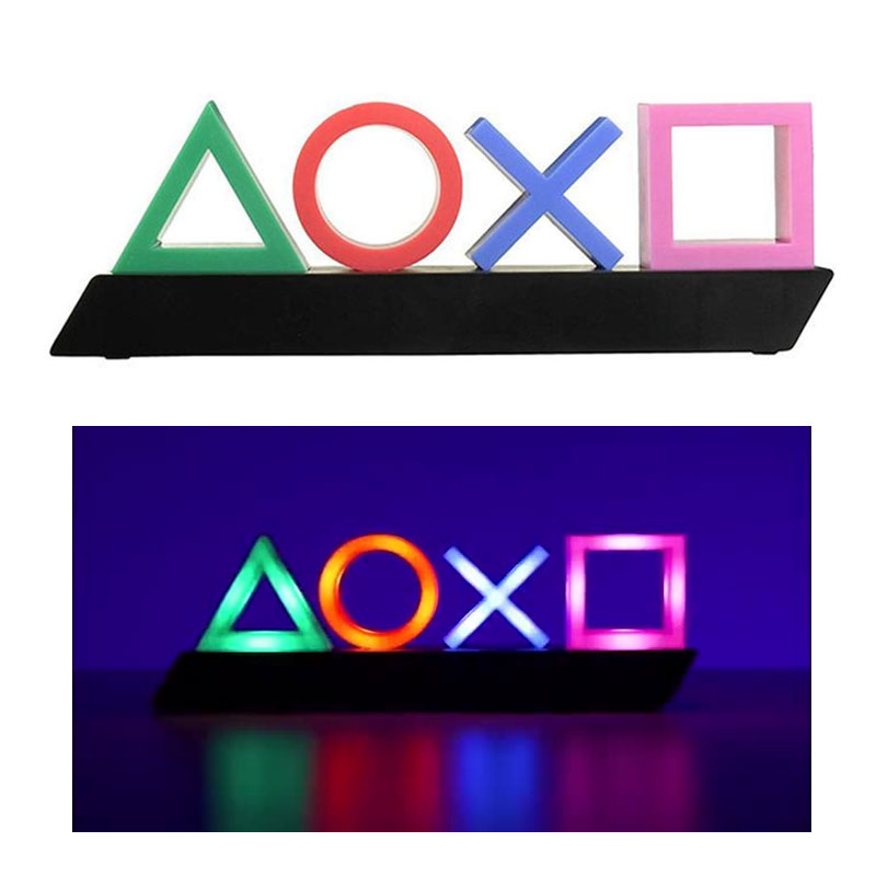Atmosphere Neon Light USB Game Icon Lamp Acrylic Voice Control Light Beating Dimmable Bar Club KTV Wall Decoration Lamps Sign