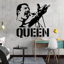 Vinyl Art Design Wall Sticker Modern Freddie Mercury Queen Band Home Decoration Beauty Fashion Poster Mural Decor W676