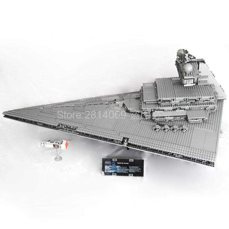 Em estoque 05027 star wars imperador lutadores estrela navio bloco de construção móvel 3250 peças tijolo compatível 10030 crianças presente