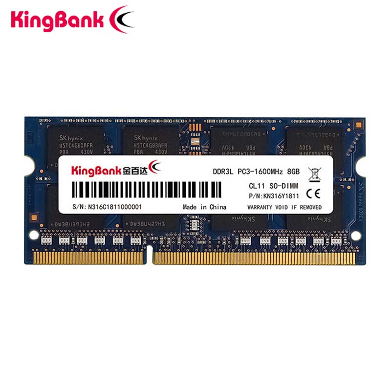 KingBank DDR3 DDR3L 4GB 8GB 1600Mhz SO-DIMM 1.35V dizüstü RAM 204Pin dizüstü bellek sodimm