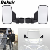 Black Offroad Break Away Side View Mirror Set for UTV Side x Side Utility Vehicle w/ 1.75 & 2 Roll Cage Bar RZR 800 900 1000
