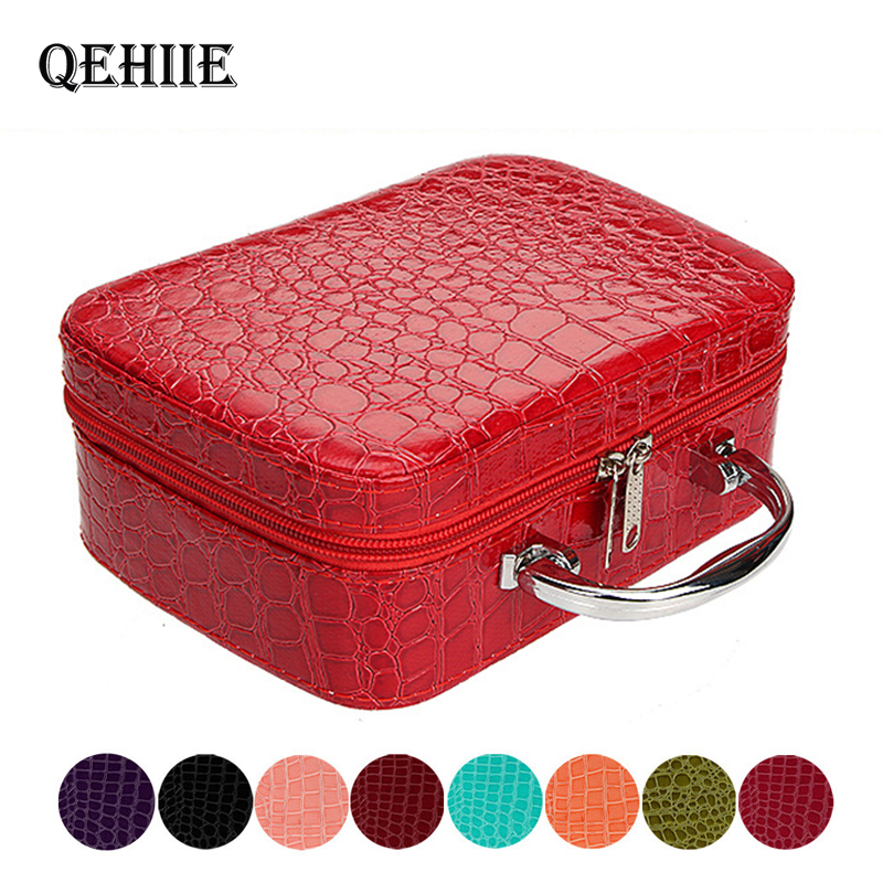 Fashion Woman Makeup Case Cosmetic Bag High Quality Travel Organizer Beauty Box Medicine Stationery Cosmetics Holiday Gifts 2019