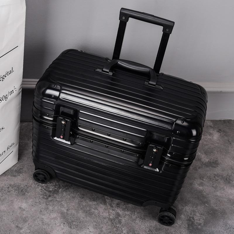 Scratch-Resistant Dull Polish Travel Trolley Computer Box Ji Zhang Xiang Make-up Bag Toolbox 18-Inch Airline Stewardess Boarding