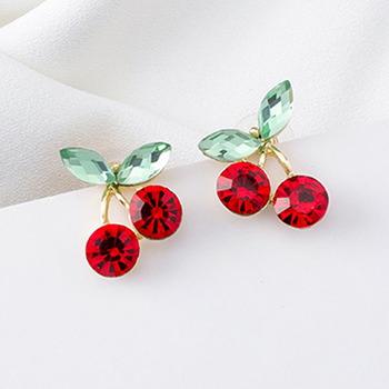 2020 New Arrival Metal Trendy Geometric Women Dangle Earrings Fresh Sweet Red Cherry Leaf Earrings Jewelry.jpg 350x350 - 2020 New Arrival Metal Trendy Geometric Women Dangle Earrings Fresh  Sweet Red Cherry  Leaf Earrings Jewelry Wholesale