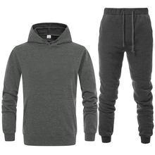 Chándal de marca para hombre, ropa deportiva a la moda, conjuntos de dos piezas totalmente de algodón, sudadera gruesa y pantalo