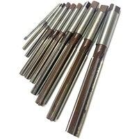 10 peças reamer manual 3/4/5/6/7/8/9/10/11/12mm precisão h8 9 sicr ferramentas de uso manual de haste reta|Fresa| |  -