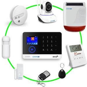 Image 5 - Sistema de alarma GSM GPRS antirrobo inalámbrico para el hogar inglés ruso español alemán polaco italiano francés RFID APLICACIÓN DE Android IOS de tarjetas