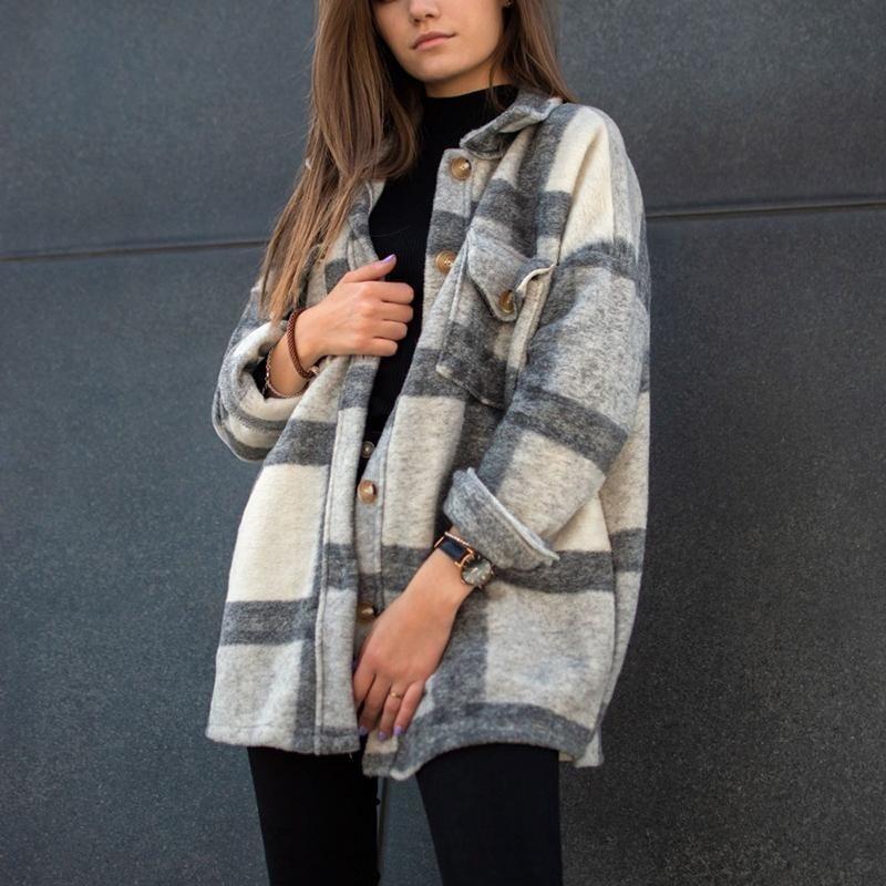 Fall Long Sleeve Loose Women's Coat Fall Outfit 2021 1