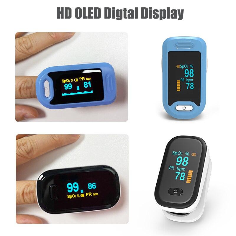 Пульсоксиметр spo2 PR на палец, портативный измеритель пульса и уровня кислорода в крови, с OLED-экраном пульсоксиметр на палец оксиметр пульсометр пульоксиметр сатуратор пульсаксиметр пульсикометр измеритель кислорода 3