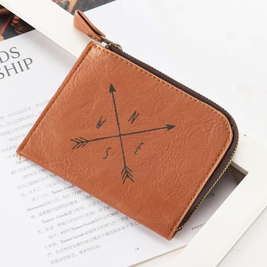 Useful Mini Wallet Men Ladies Zipper Coin Purse Small High Grade Coin Credit Card Key Ring Wallet CP02C