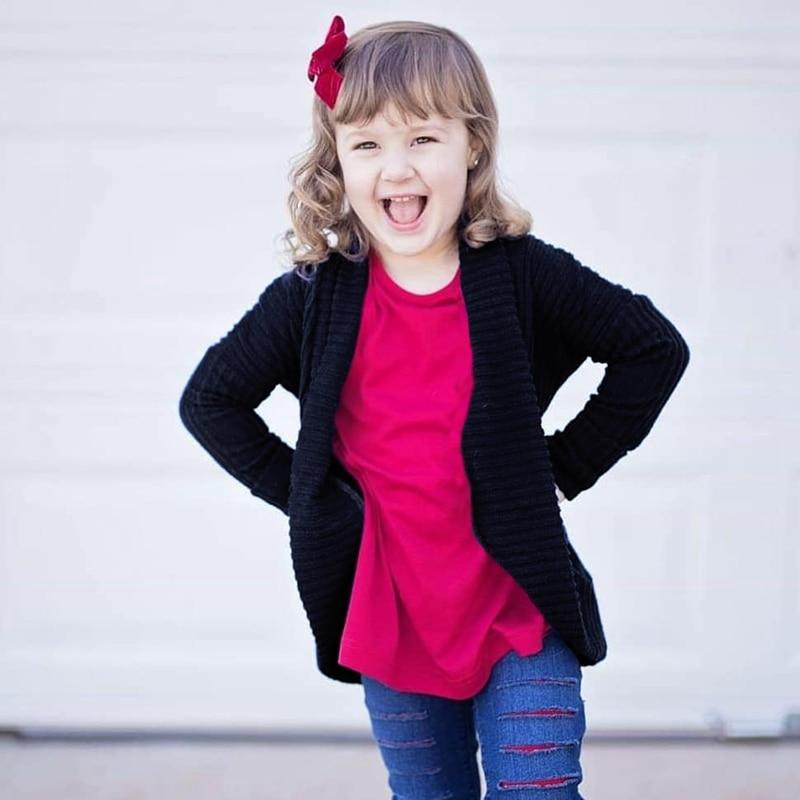 >Baby Girl Sweater Autumn Boy Clothes Children Kids <font><b>Solid</b></font> Print Cardigan <font><b>Casual</b></font> Outerwear Coat Clothes <font><b>0</b></font>-<font><b>5y</b></font>