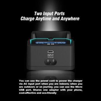 XTAR X2 LCD şarj Hızlı şarj Iki Giriş Bağlantı Noktası şarj 3.6 V/3.7 V Li-ion/IMR/ INR/ICR, 1.2V Ni-MH/ni-cd AAA AA Pil şarj Cihazı
