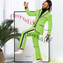 Men Suits Tuxedo Jacket Best-Blazer Lapel Thorndike Pant Groom Peaked One-Buttons T1315