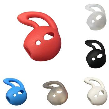 2Pcs Fashion Silicone Earphones Protector Cover Ear Buds Case for Apple Air Pods image