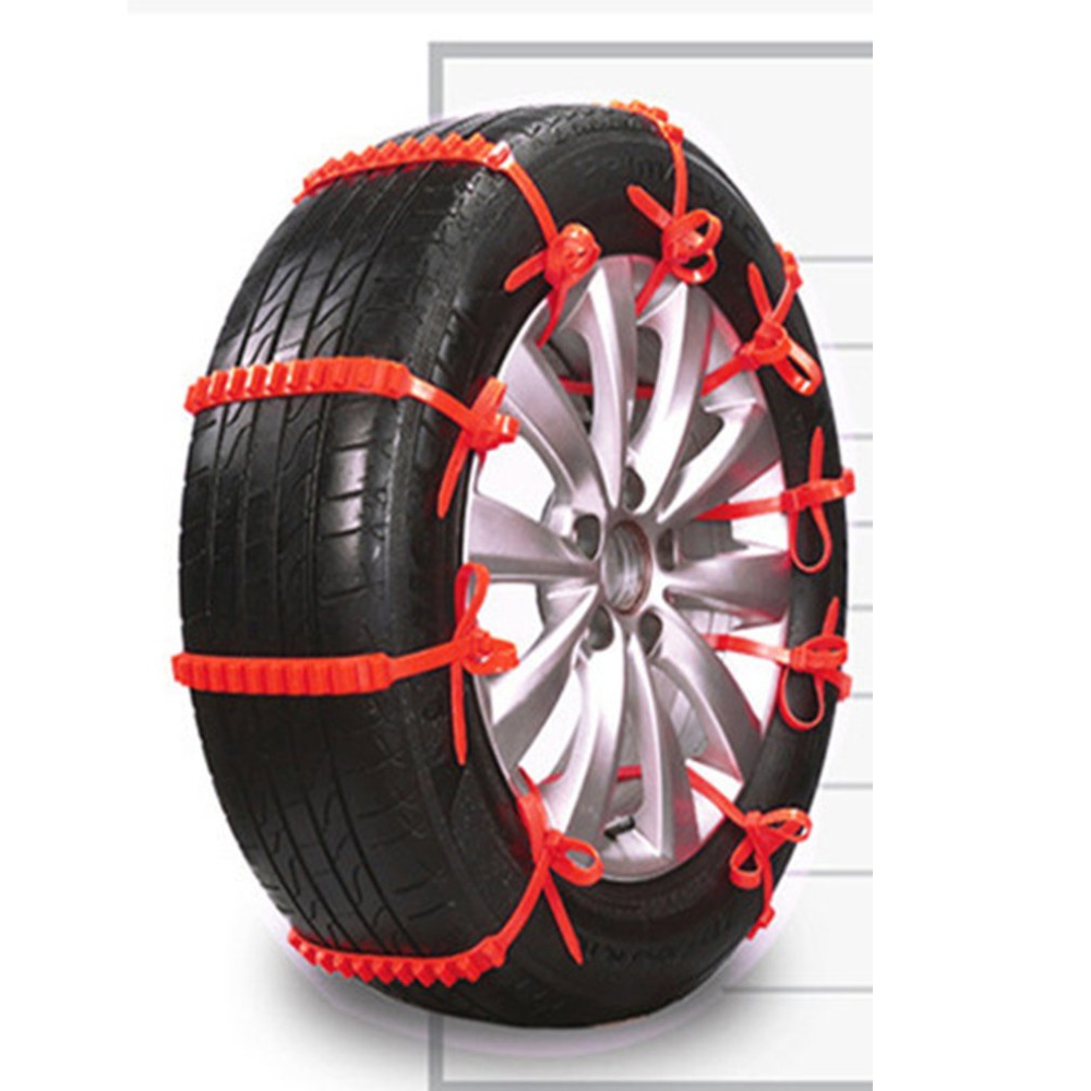 Anti-Skid Chains Snow Chains Universal Emergency Anti-Slip Tire Belting Straps Cable Traction Wire for Car/SUV image